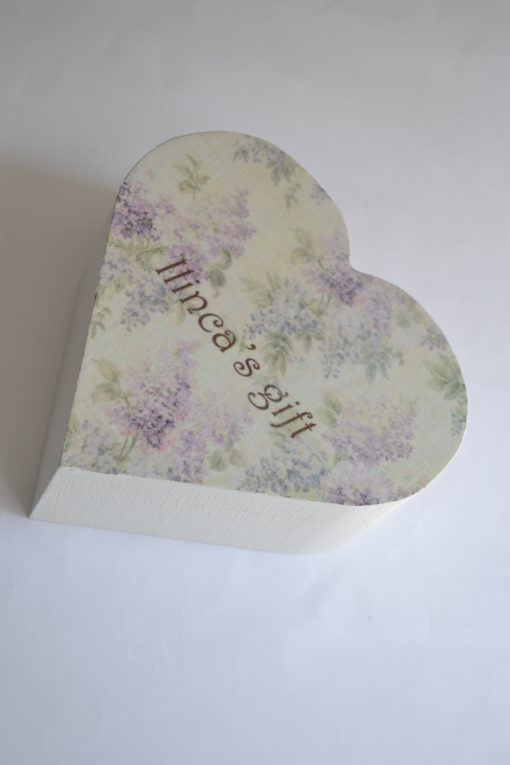 Lilac Heart Shabby Chic – Cutie personalizata
