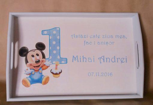 Set tava si cutiuta 1 anisor - Baby Blue Mickey