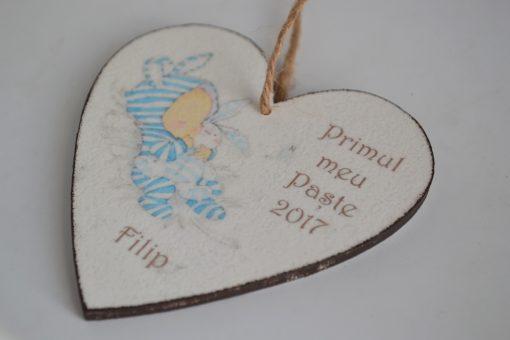 """Inima """"Primul meu Paste""""- Baietel"""